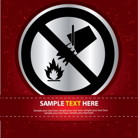 Fire Sign Label ,Vector  Stock Vector - 16174282