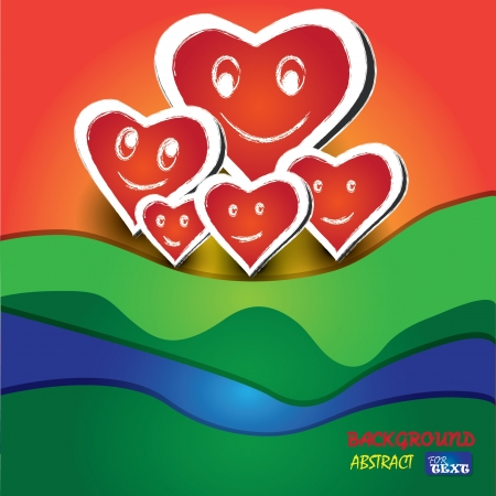 Hearts family,abstract Stock Vector - 18521846