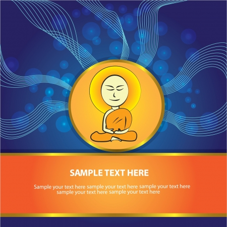 Buddha sign abstract background,Vector  Stock Vector - 18588130
