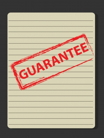 Guarantee stamp on old paper,Vector Stock Vector - 18588075