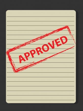tampon approuv�: Timbre approuv� sur le vieux papier, Vector