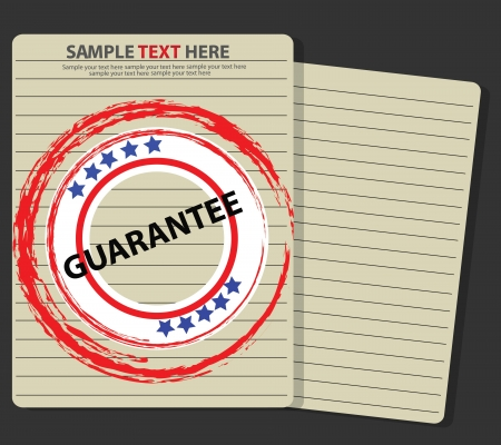 Guarantee stamp on old paper  Stock Vector - 18588017