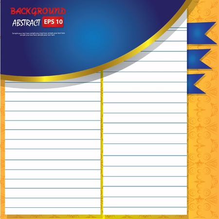 fanned: Blank old paper for text,Vector Illustration