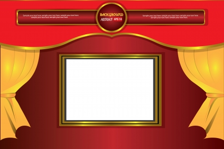 theater curtain classic background,Vector  Illustration