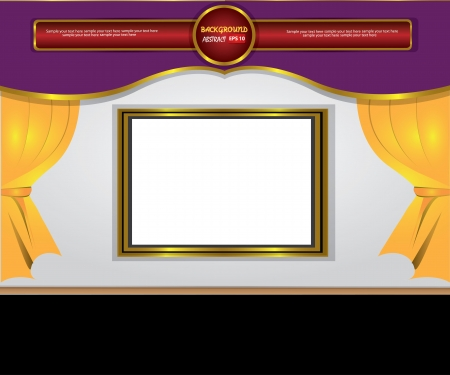 theater curtain classic background,Vector Stock Vector - 18588183