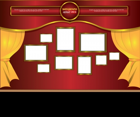 theater curtain classic background,Vector  Vector