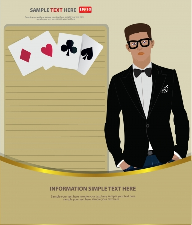 Business man and blank paper,Vector Stock Vector - 18625541