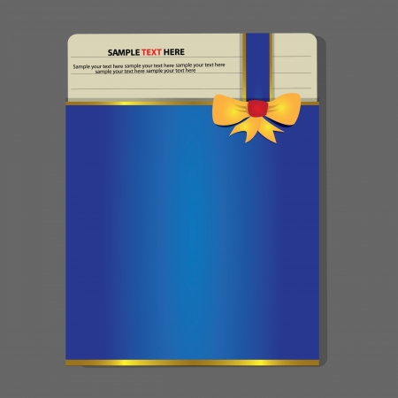Blue paper card,abstract,Vector Vector