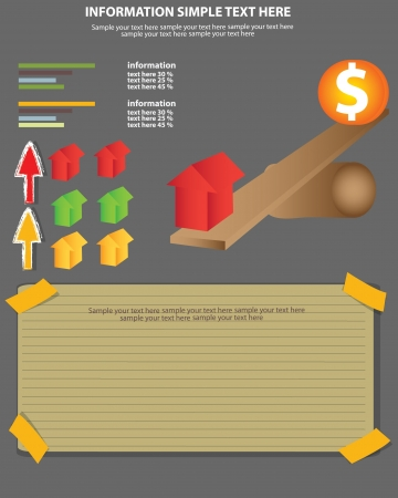 Business, dollar sign and house concept,Vector  Vector