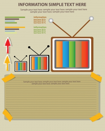 Television and blank paper,Vector Stock Vector - 18625548
