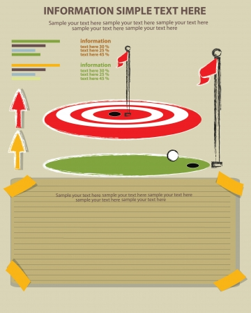 sward: Golf sport e carta bianca, Vector