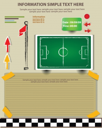 rugby field: Plan, game football,Vector