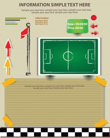 score board: Plan, game football,Vector