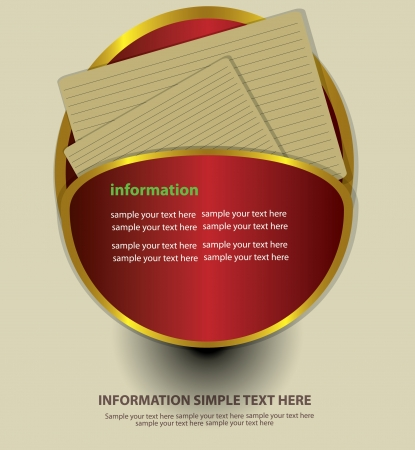 Vector advertising labels and blank paper Stock Vector - 18625612