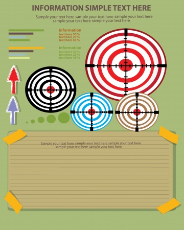 Red darts target aim,Vector  Stock Vector - 18625550