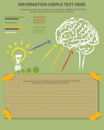 Brain and blank paper ,Vector Stock Vector - 18625737