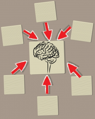 Brain and blank paper ,Vector Stock Vector - 18625564