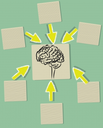 Brain and blank paper ,Vector Stock Vector - 18625561