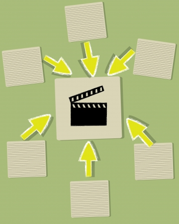 Film sign and blank paper,Vector Stock Vector - 18625590