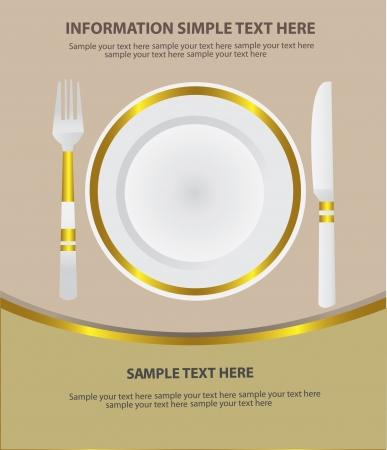 dinner setting: Dinner place setting,Vector  Illustration