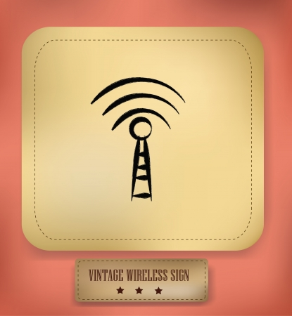 Wireless sign,vintage,vector  Stock Vector - 18882215