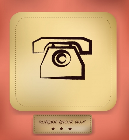 Telephone symbol,vector Stock Vector - 18882214