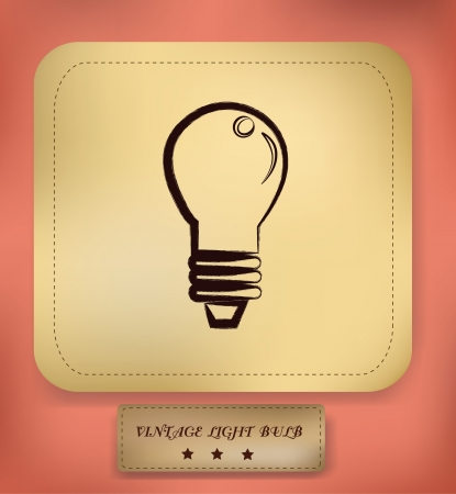 Light bulb symbol,vector  Vector