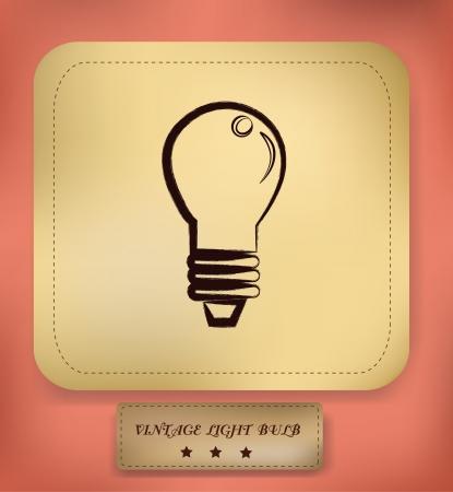 Light bulb symbol,vector Stock Vector - 18882216
