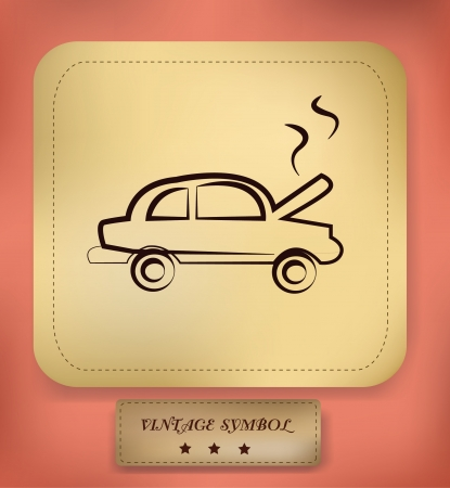 Car,drawing,sign,vector Vector