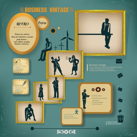 People,Business concept,vintage,Vector Vector