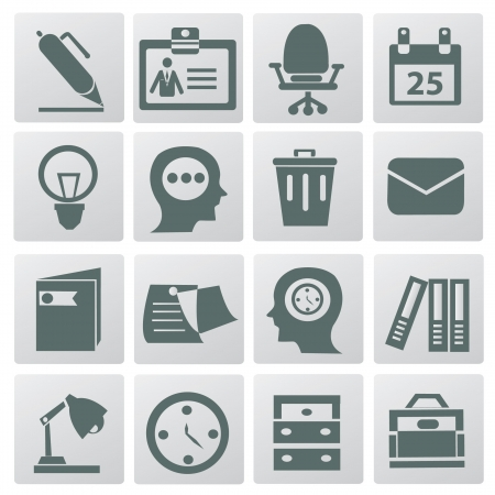 Business   office icons,vector Stock Vector - 18886854