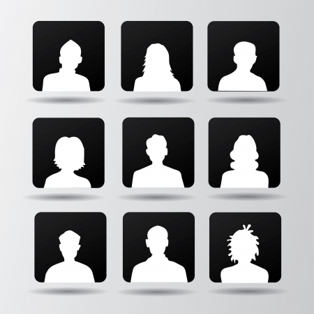 avatars: Persone, avatar, vecto r