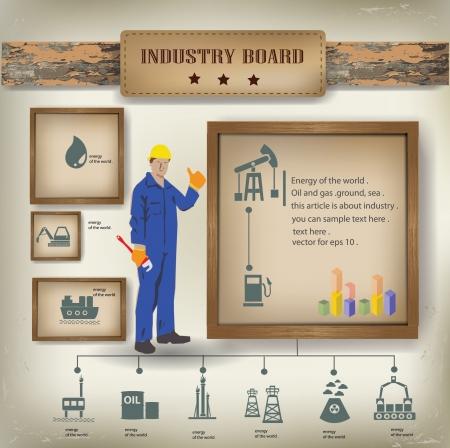 Industry background,info graphics,vector Stock Vector - 18886932
