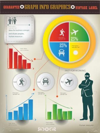 Circle graph,info graphics,business concept,vector Stock Vector - 18886933