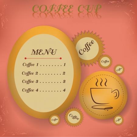 Menu Coffee  symbol,vector