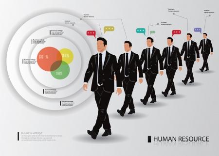 confidant: Business man and graphics design,vector