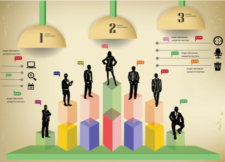ve: Human resource,Business concept,info graphics,vintage,ve ctor Illustration