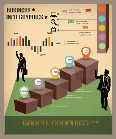 infomation: Graph infomation graphics,business concept,vector