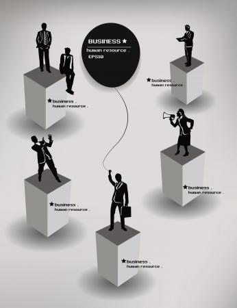 クライアント: 人々、ビジネス、ハム、リソース、ベクトル