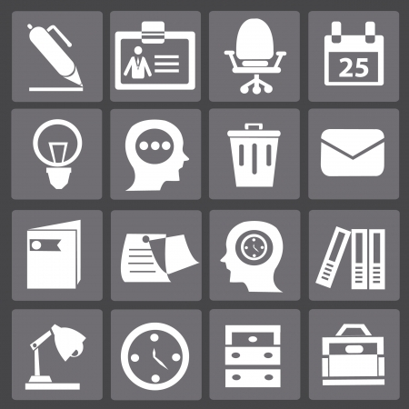 chairman: Business   office icons,vector