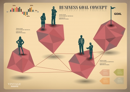 Business concept,vintage,vector Stock Vector - 18626029