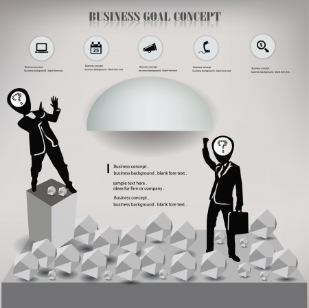 Leeg voor business concept, abstract, achtergrond, vector Stock Illustratie