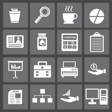 Business,office icon set,vector  Vector