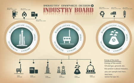 oil and gas industry: Gas and oil,graphics design,sign,vector
