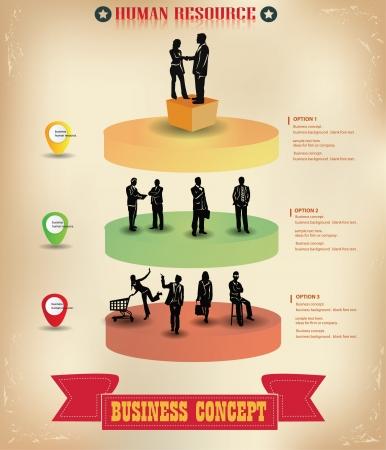 inforgraphic: Business man,graphics design,vector  Illustration