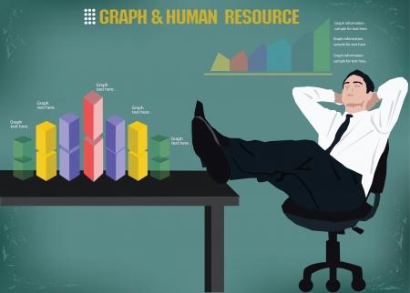 coworker banner: Human,business graphics design,vector
