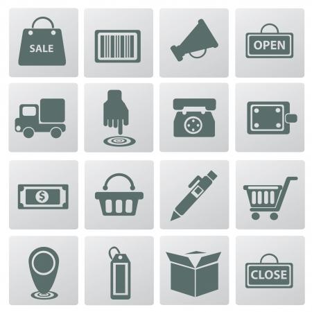 icon shopping cart: Ihr Warenkorb, Icon-Set, vector