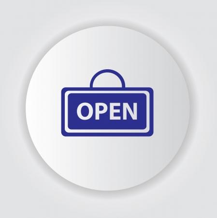 doorhandle: Open symbol,vector  Illustration
