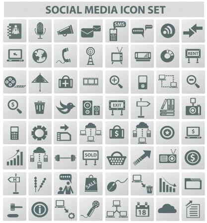 global networking: Las redes sociales de Internet concepto, iconos, vector