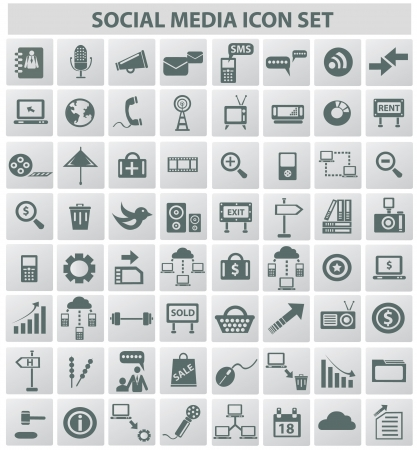 global networking: Social media   internet concept,icons,vector  Illustration